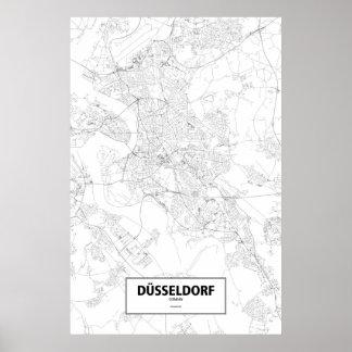 Dusseldorf, Deutschland (Schwarzes auf Weiß) Poster