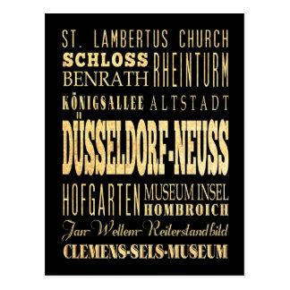Düsseldorf-Neuss der Deutschland-Typografie-Kunst Postkarte
