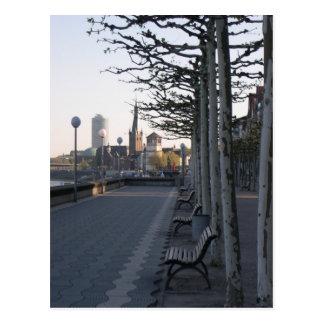 Düsseldorf Rheinpromenade Postkarte