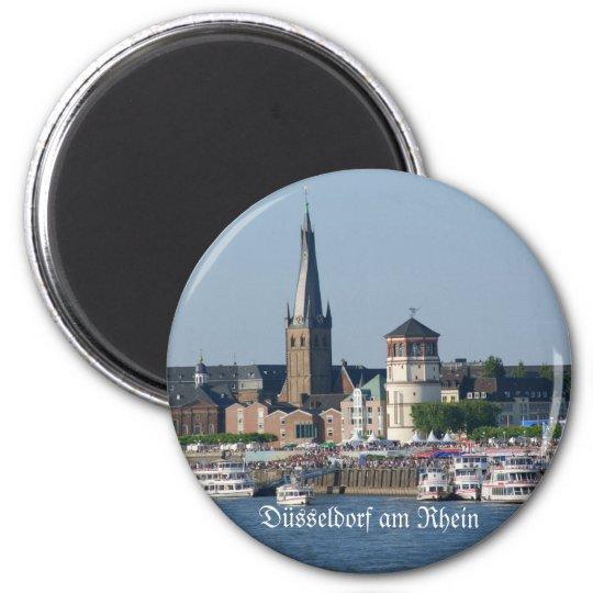Düsseldorf Runder Magnet 5,7 Cm