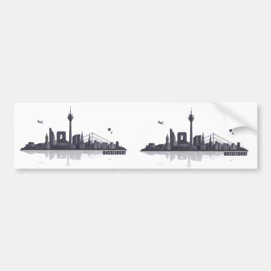 Düsseldorf Skyline Autoaufkleber
