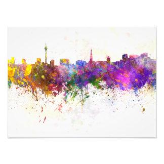 Dusseldorf skyline im Watercolor background Fotografischer Druck