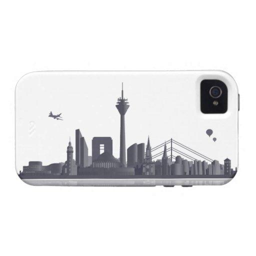 Düsseldorf Skyline iPhone 4/4s Schutzhülle / Case Vibe iPhone 4 Case
