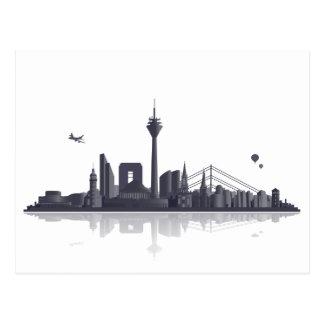 Düsseldorf Skyline - Postkarte / Grußkarte