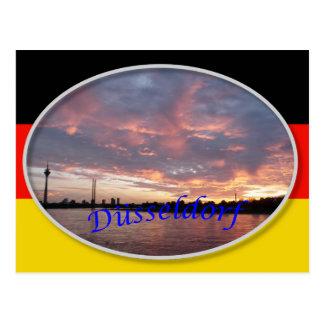 Dusseldorf-Sonnenuntergang-Postkarte Postkarte