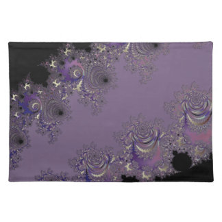 Düstere Lavendel-Fraktal-Wohngestaltung Tischset