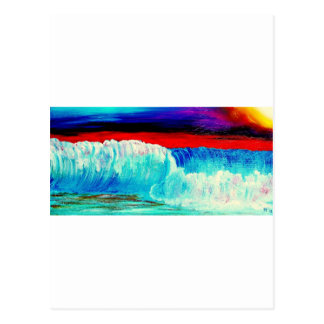 Düstere Wellen Postkarte