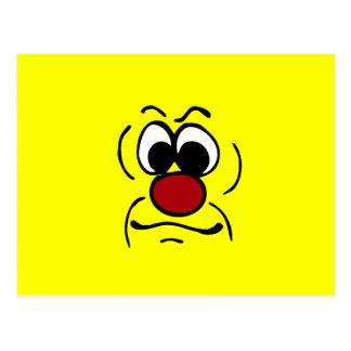 Düsterer Smiley Grumpey Postkarte