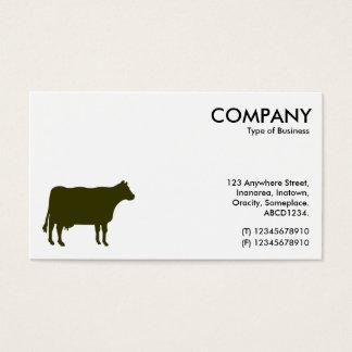 Düsteres grünes Kuh-Symbol - Weiß Visitenkarte