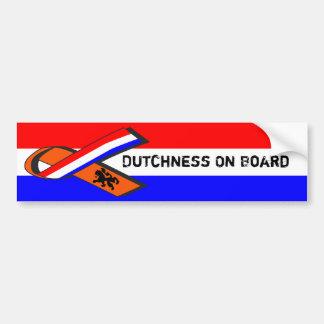 Dutchness an Bord Autoaufkleber