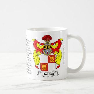 Dutton Familien-Wappen Kaffeetasse