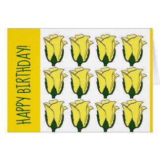 Dutzend gelbe Rosen-Geburtstags-Karte Karte