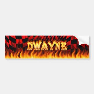 Dwayne wirkliches Feuer und Autoaufkleber