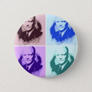 Dwight D Eisenhower Runder Button 5,7 Cm