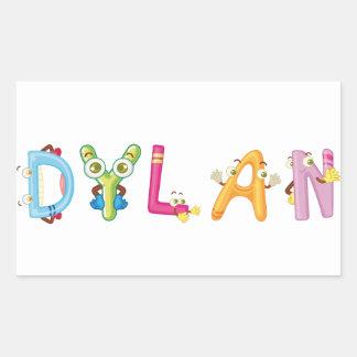 Dylan-Aufkleber Rechteckiger Aufkleber