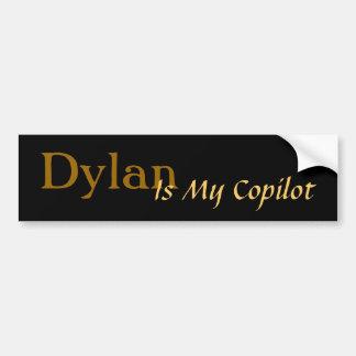 Dylan ist mein Kopilot Autoaufkleber