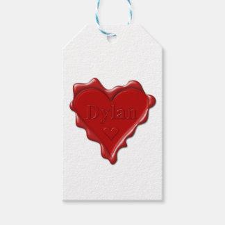 Dylan. Rotes Herzwachs-Siegel mit Namensdylan Geschenkanhänger