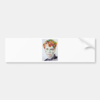 Dylan Thomas - Aquarell portrait.1 Autoaufkleber