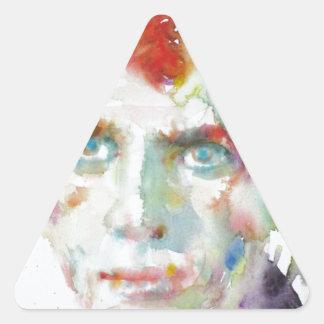 Dylan Thomas - Aquarell portrait.1 Dreieckiger Aufkleber