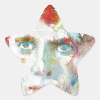 Dylan Thomas - Aquarell portrait.1 Stern-Aufkleber
