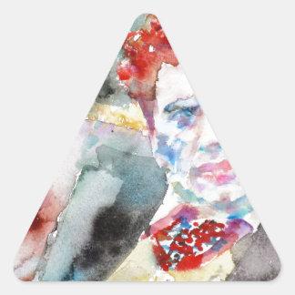 Dylan Thomas - Aquarell portrait.2 Dreieckiger Aufkleber