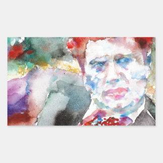 Dylan Thomas - Aquarell portrait.2 Rechteckiger Aufkleber