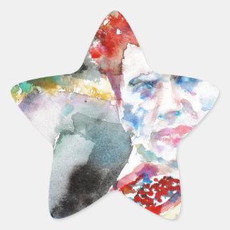 Dylan Thomas - Aquarell portrait.2 Stern-Aufkleber