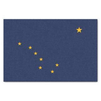 Dynamische Alaska-Staats-Flaggen-Grafik auf a Seidenpapier