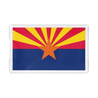 Dynamische Arizona-Staats-Flaggen-Grafik auf a Acryl Tablett