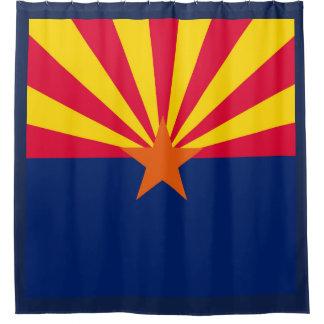 Dynamische Arizona-Staats-Flaggen-Grafik auf a Duschvorhang