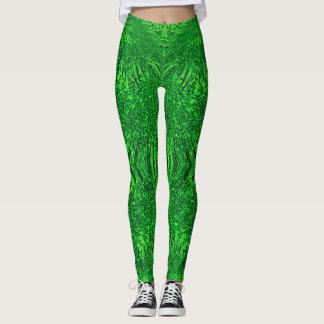 dynamische Beschaffenheit des abstrakten grünen Leggings
