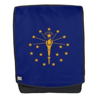 Dynamische Indiana-Staats-Flaggen-Grafik auf a Rucksack