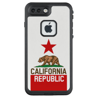 Dynamische Kalifornien-Staats-Flaggen-Grafik auf a LifeProof FRÄ' iPhone 8 Plus/7 Plus Hülle