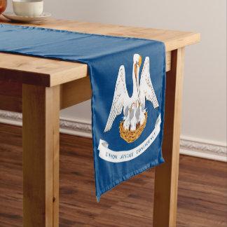 Dynamische Louisiana-Staats-Flaggen-Grafik auf a Kurzer Tischläufer