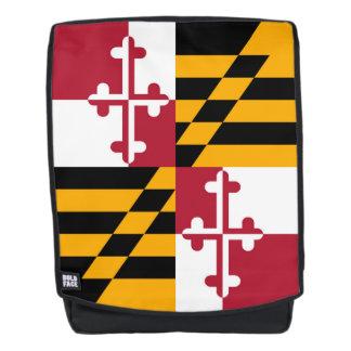 Dynamische Maryland-Staats-Flaggen-Grafik auf a Rucksack