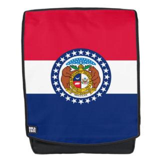 Dynamische Missouri-Staats-Flaggen-Grafik auf a Rucksack