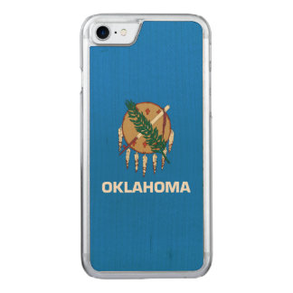 Dynamische Oklahoma-Staats-Flaggen-Grafik auf a Carved iPhone 8/7 Hülle