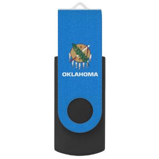 Dynamische Oklahoma-Staats-Flaggen-Grafik auf a USB Stick