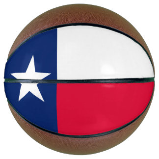 Dynamische Texas-Staats-Flaggen-Grafik auf a Basketball