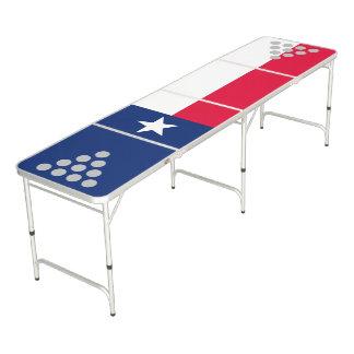 Dynamische Texas-Staats-Flaggen-Grafik auf a Beer Pong Tisch