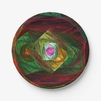 Dynamische Verbindungs-abstrakte Kunst Pappteller