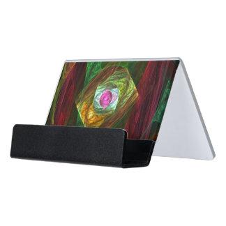Dynamische Verbindungs-abstrakte Kunst Schreibtisch-Visitenkartenhalter