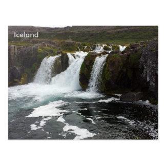 Dynjandi (Fjallfoss), Westfjords, Island Postkarte