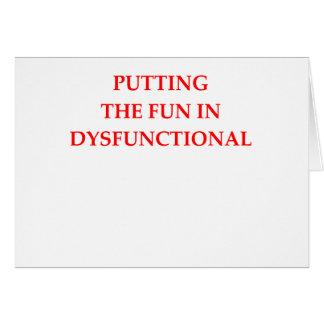 dysfunktionell grußkarte