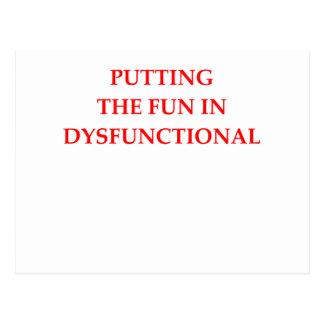 dysfunktionell postkarten