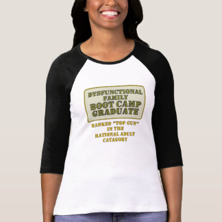 Dysfunktionelle Damen 3/4 HülseRaglan (angepasst) T-Shirt