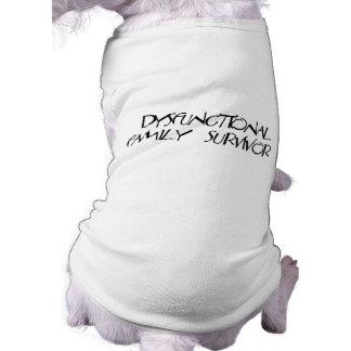 Dysfunktionelle Familie Ärmelfreies Hunde-Shirt