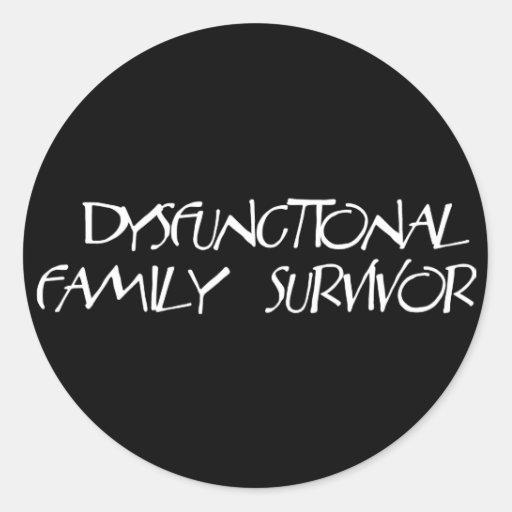 Dysfunktionelle Familie Runder Sticker
