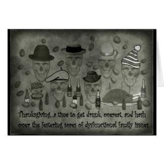 Dysfunktionelle Familie Diiner Grußkarte