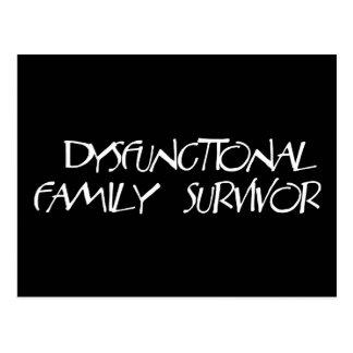 Dysfunktionelle Familie Postkarte